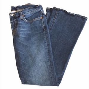 Lucky Brand Low Rise Flare Jeans, Blue, Size 8/29